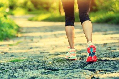 Fitness woman legs