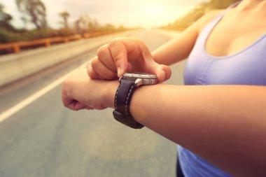 Young woman jogger