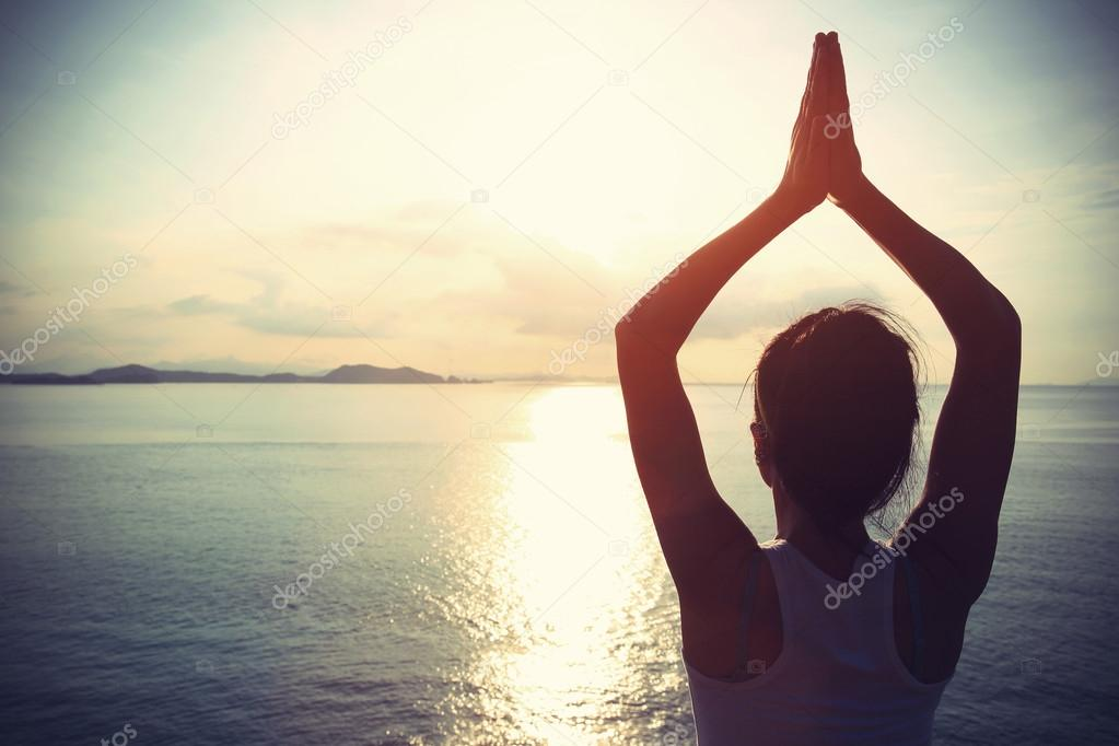 Healthy yoga woman meditation