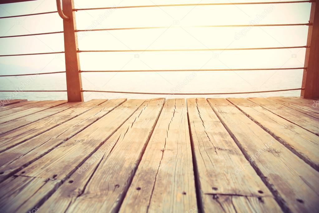 wooden boardwalk on seaside