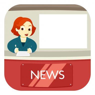News Anchor on Air