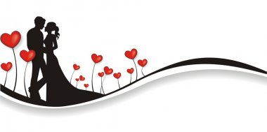 Lovely valentines background with a lot of hearts clip art vector