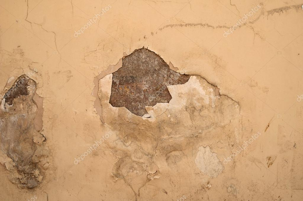 Texture of old rustic wall covered with gray stucco — Stock Photo ...