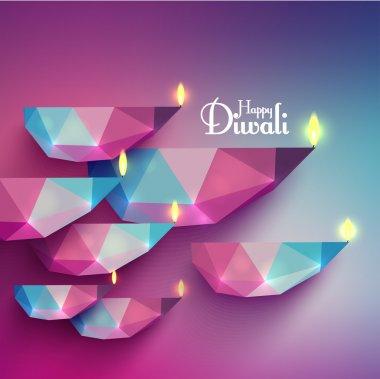 Vector Diwali Diya (Oil Lamp). stock vector