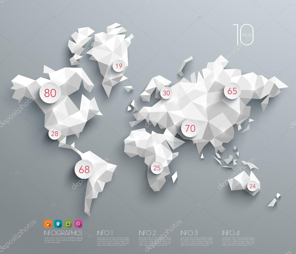 Abstract vector polygonal world map stock vector yienkeat 52866161 abstract vector polygonal world map stock vector gumiabroncs Gallery