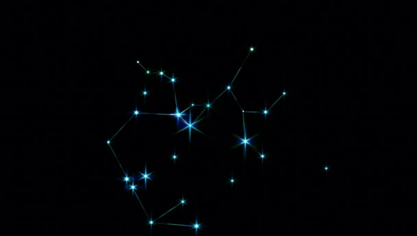 Realistic Sagittarius 1 of the 12 constellations of the zodiac.