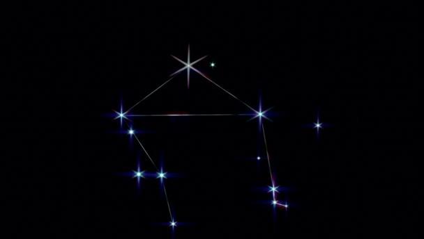 Realistische Waage 1 der 12 Sternbilder des Tierkreises.