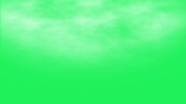 Reális fehér köd zöld háttér.