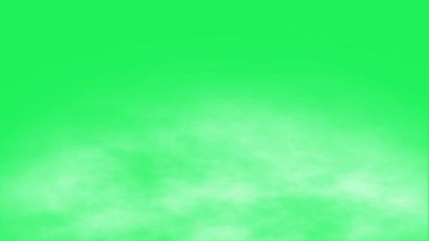 Realistischer weißer Nebel auf grünem Hintergrund.
