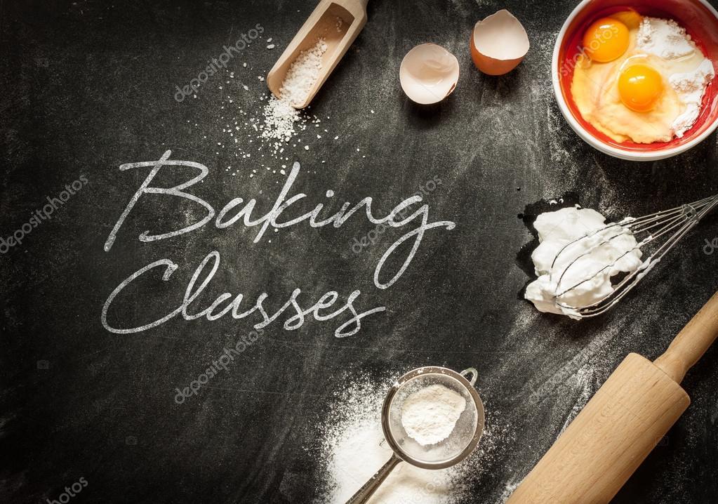Baking classes poster design