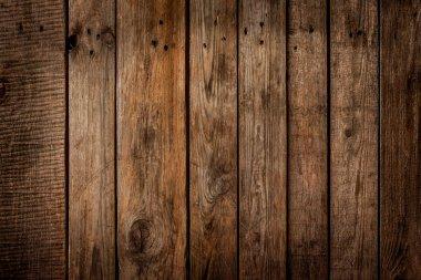 Old vintage planked wooden board - background