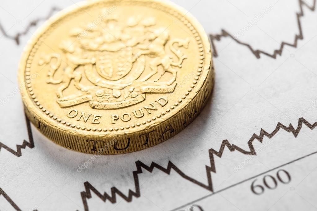 Britische Pfund Münzen Geld Vintage Stockfoto Fotomaximum 123772262