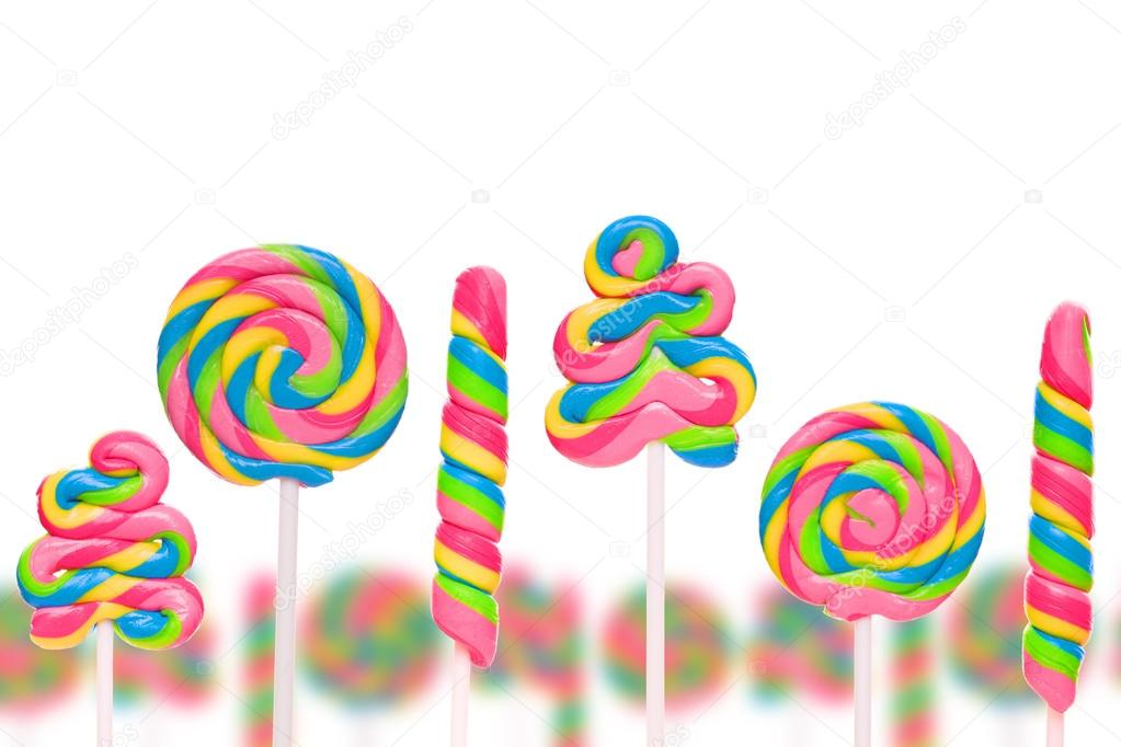 Fantasy sweet candy land with lollies
