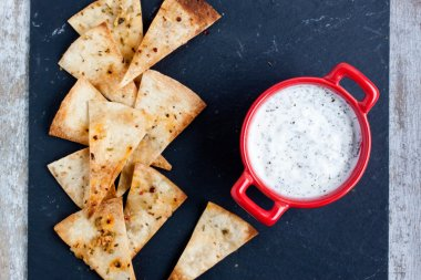homemade nachos chips