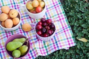 Assorted fruits close up