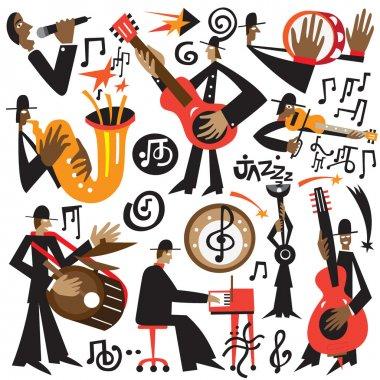 jazz musicians - vector cartoons