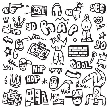 rap,hip hop - doodles