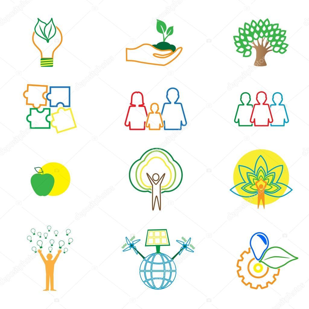 Imágenes Logo Del Medio Ambiente Para Colorear Protege Equipo De