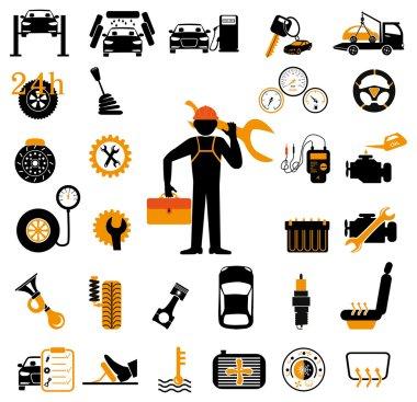 Car service maintenance icon