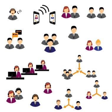 Business customer care service concept