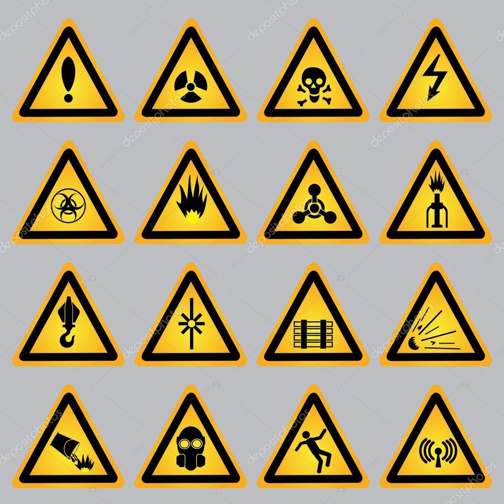 Warning and danger signs — Stock Vector © Krylovochka #72260661