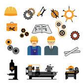 Industrial machine worker operator