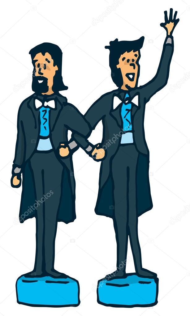 mannelijke taart Mannelijke homo paar van taart toppers — Stockvector © Curvabezier  mannelijke taart