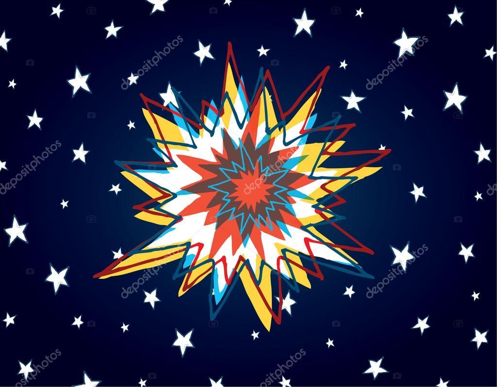 Dibujos Animados Big Bang O Explosión Colorido En El