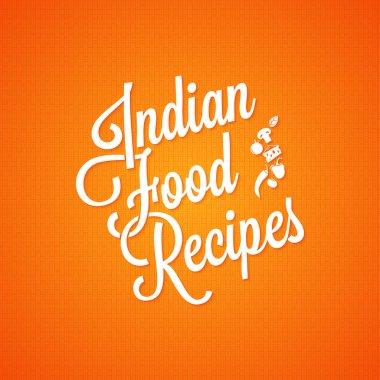 indian food vintage lettering background