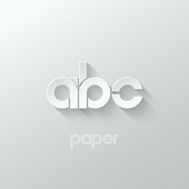 letter A B C logo alphabet icon paper set background