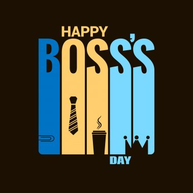 boss day holiday design vector background