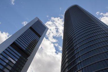 Skyscrapers in business park Cuatro Torres in Madrid