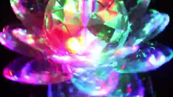 Spinning crystal Lotosový květ Led světlo v noci