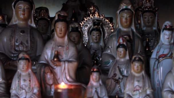 Old Chinese porcelain figurines of Guan Shi Yin Bodhisattva