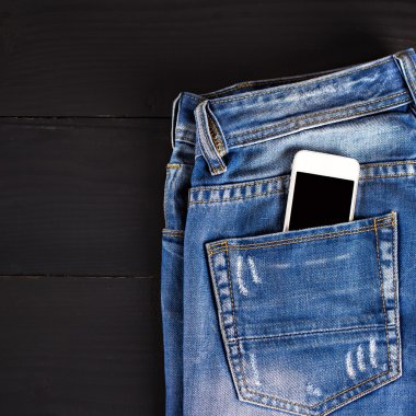 jeans and mobile phone