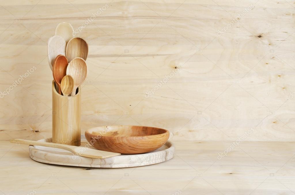 Oggettistica per la casa cucina: posate in legno, cucchiai ...