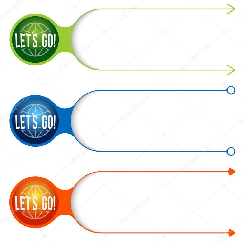 Vier verschiedene Text Rahmen für Ihren Text und Symbol gehen können ...