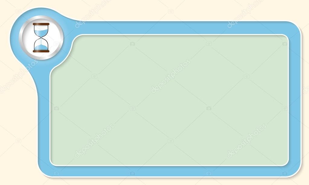 Marco de vectores para su texto y arena de vidrio — Vector de stock ...
