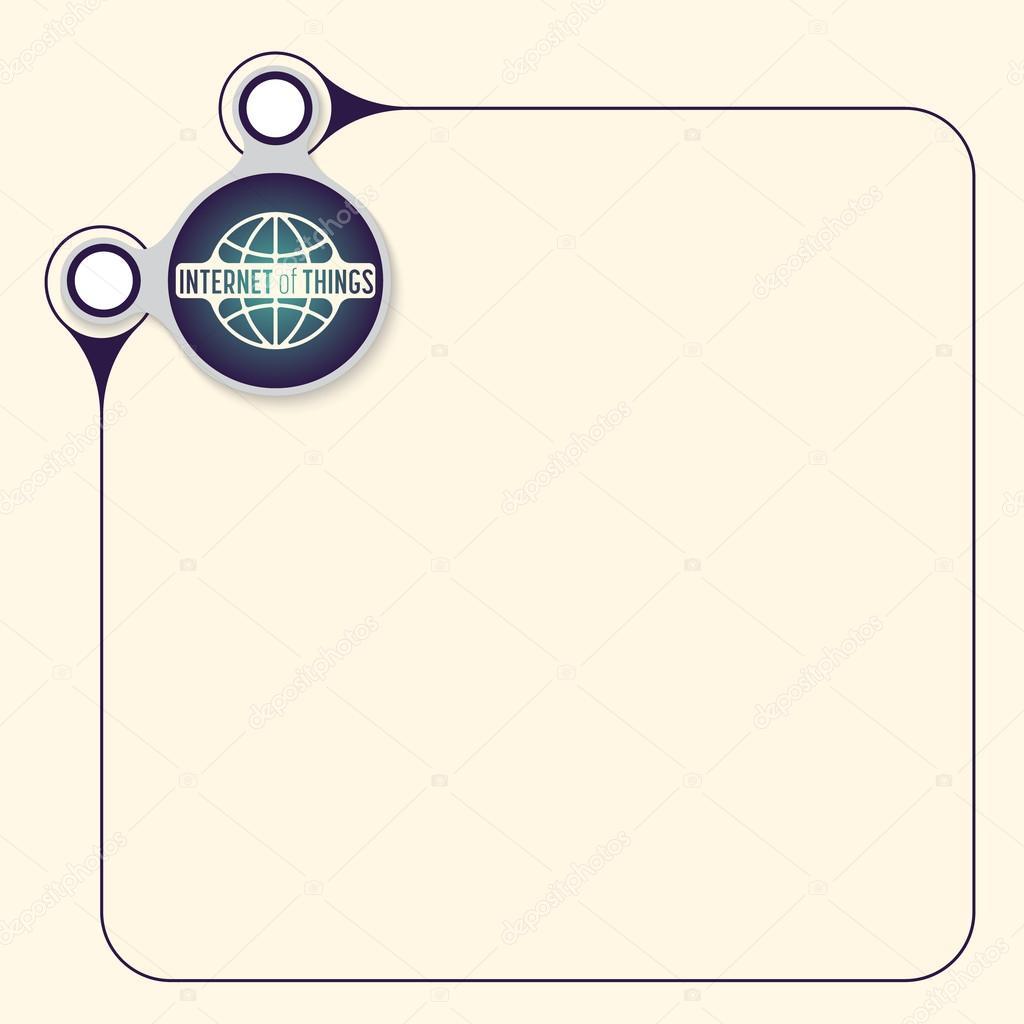 Vector Vak Te Vullen Uw Tekst En De Woorden Internet Van