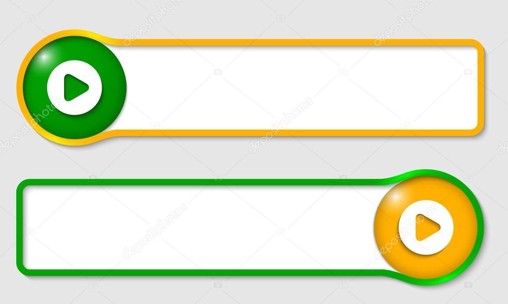 conjunto de marco de texto dos para el texto con el símbolo del ...