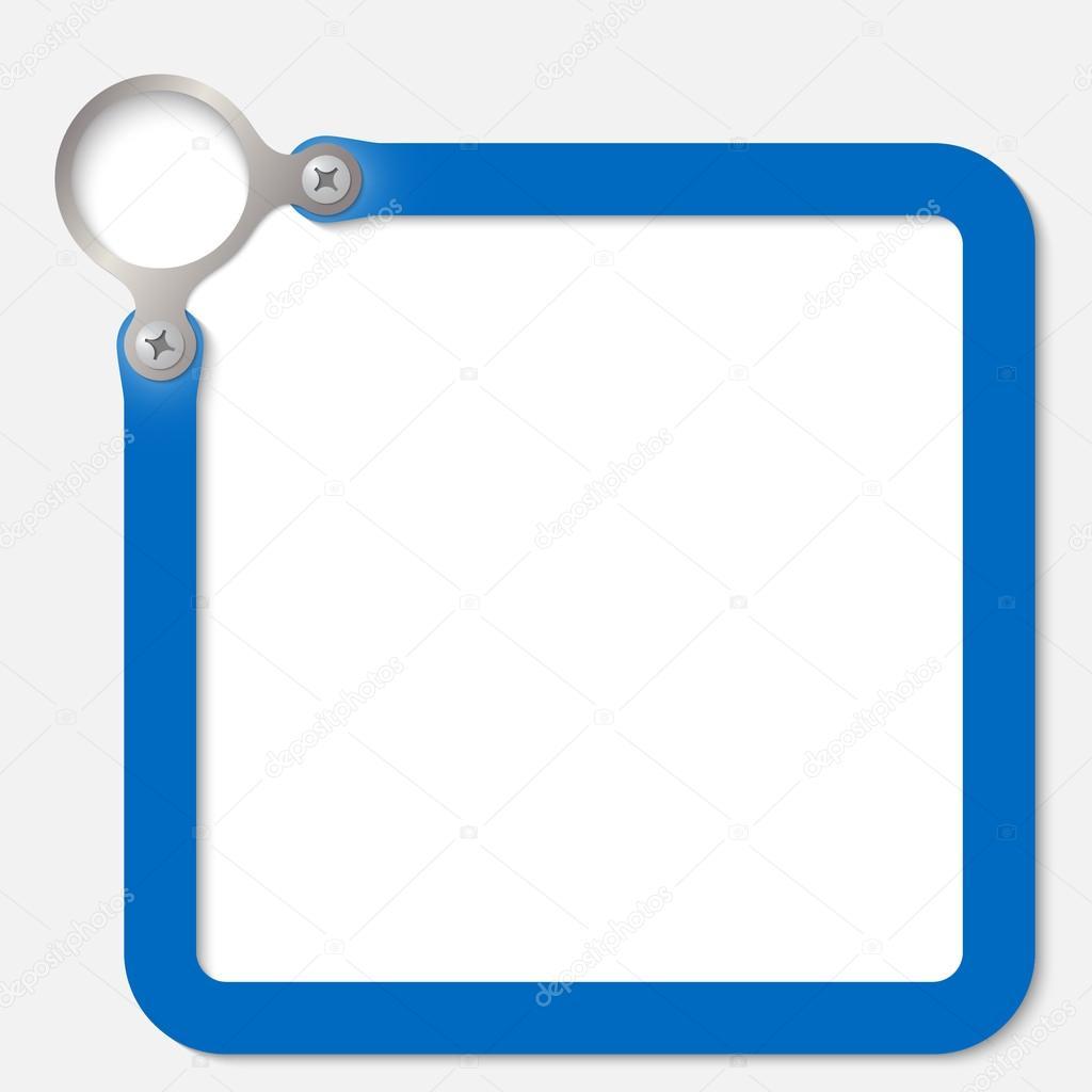 blauen Rahmen für einen beliebigen text — Stockvektor © garrifrotto ...