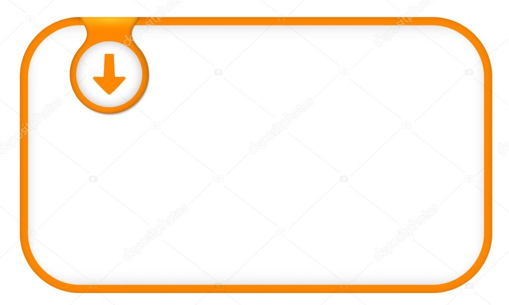 orange text frame for any text with arrow