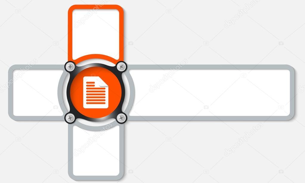 marco cuatro para cualquier texto con el icono del documento y la ...