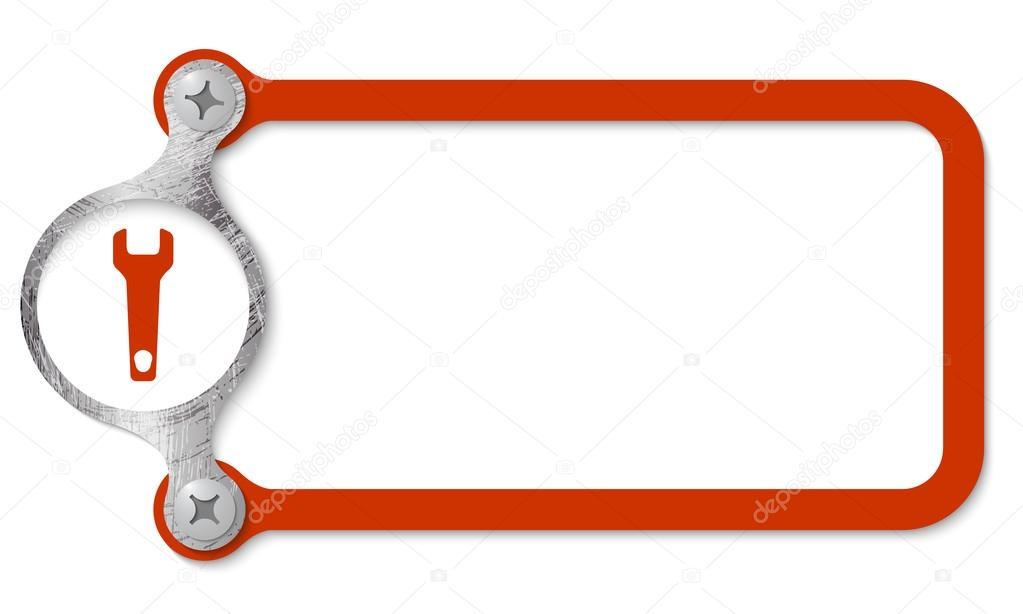 Marco rojo con tornillos y llave — Vector de stock © garrifrotto ...