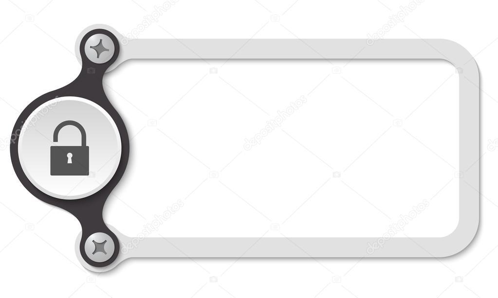 Vektor-Rahmen mit Schrauben und Vorhängeschloss — Stockvektor ...