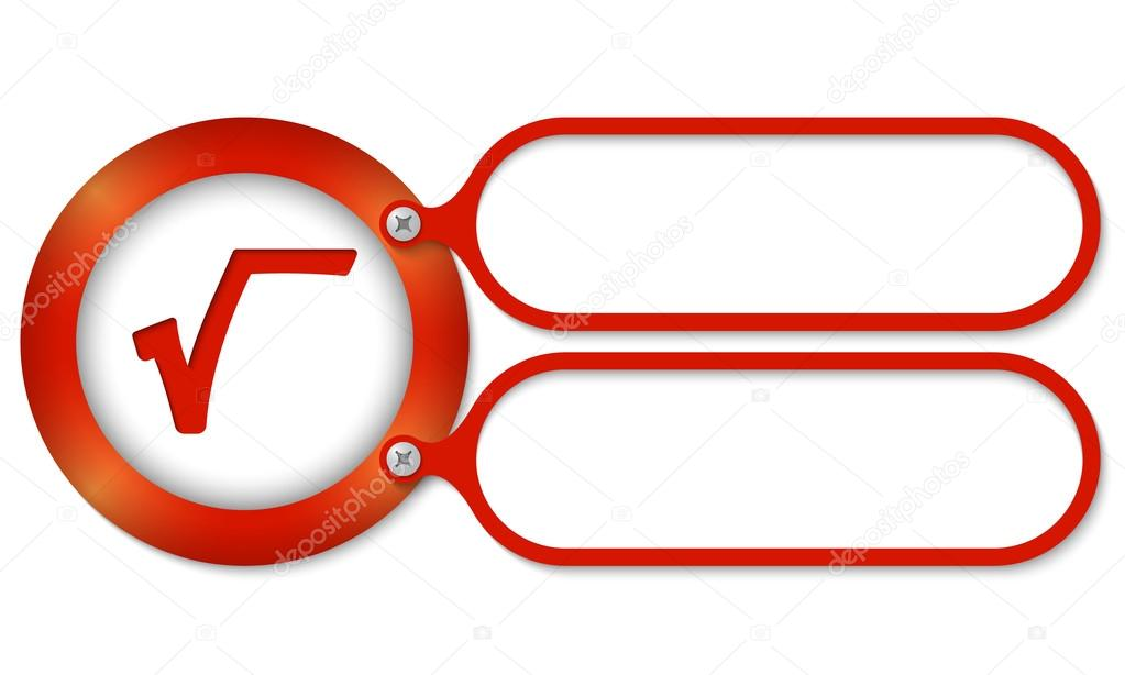 Red Frames And Square Root Symbol Stock Vector Garrifrotto 63043165