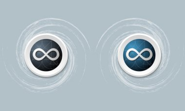 set of two icon and infinity symbol