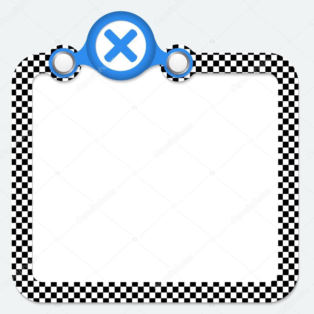 Marco abstracto para su símbolo de texto y la multiplicación ...