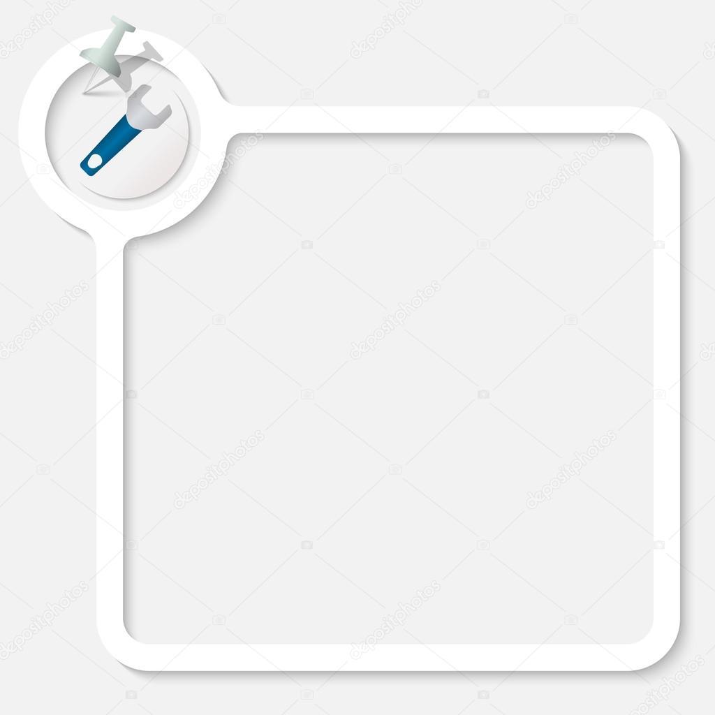 Marco blanco para el texto y llave — Archivo Imágenes Vectoriales ...