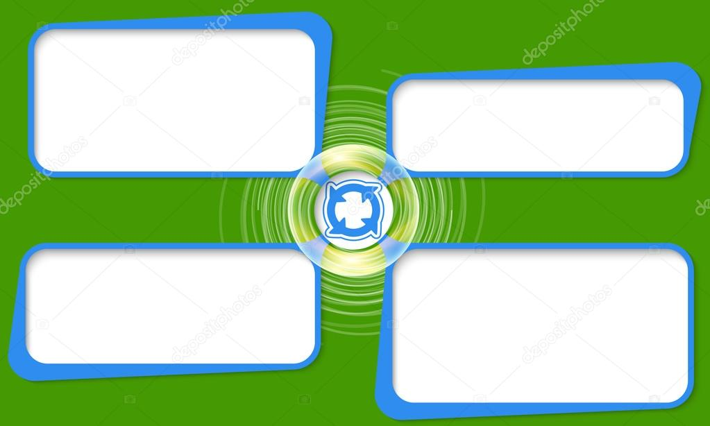 Four connected frames for your text and arrows — Stock Vector ...